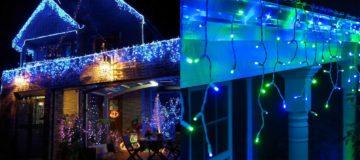Vánoční světelné deště