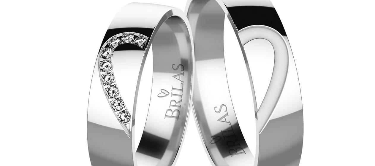 Snubní prsteny bílé zlato