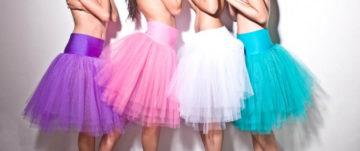 Tylové tutu sukně