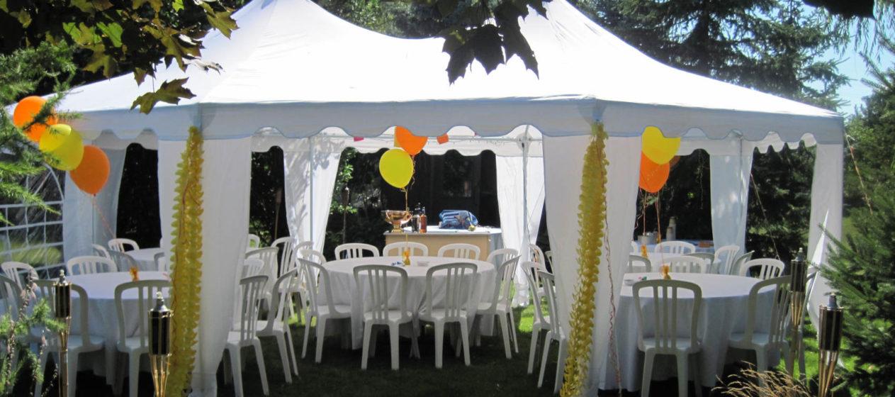 Velké zahradní párty stany