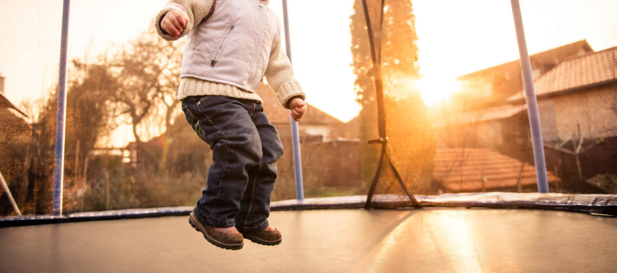 Dětské trampolíny s ochrannou sítí