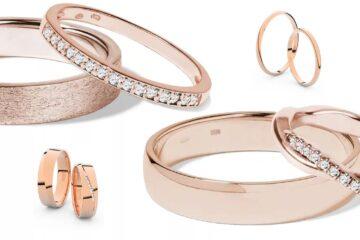 Snubní prsteny růžové zlato