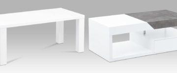 Bílé konferenční stolky
