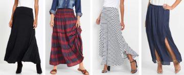 Dlouhá letní dámská sukně