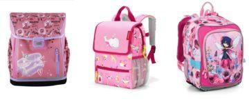 Růžové školní batohy