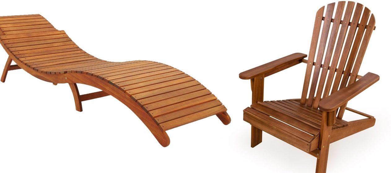 Dřevěné zahradní lehátka