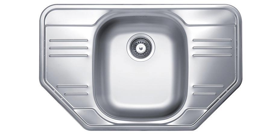 Jednodřez s odkapem Sinks CUPID 780 V 0.6mm matný