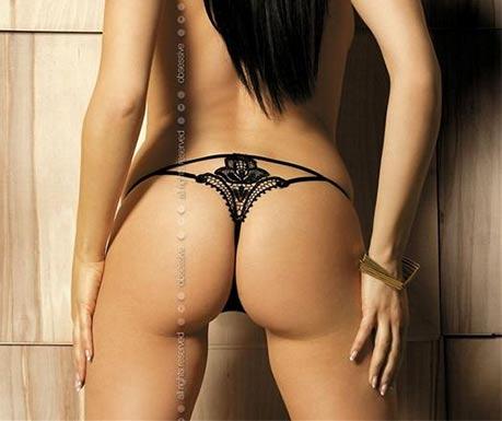 Sexy tanga s krajkovou výšivkou
