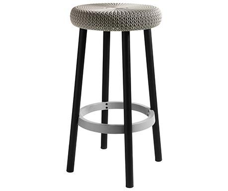 Barová stolička COZY z pletené vazební formy