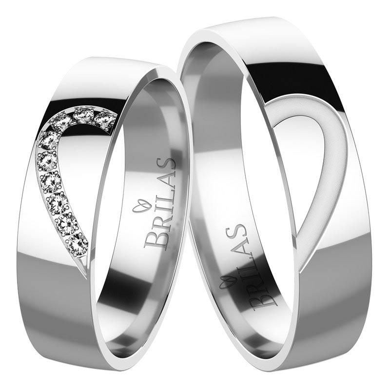 Jemné snubní prsteny z bílého zlata Constanza White
