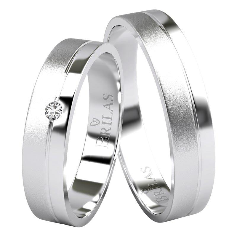 Snubní prsteny v kombinaci lesku a matu