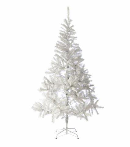 Bílý vánoční stromek s třpytivým efektem
