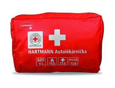 Červená textilní autolékárnička Hartmann
