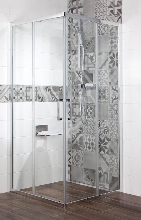 Sprchový kout Siko TEX čtverec 90 cm, čiré sklo, chrom profil
