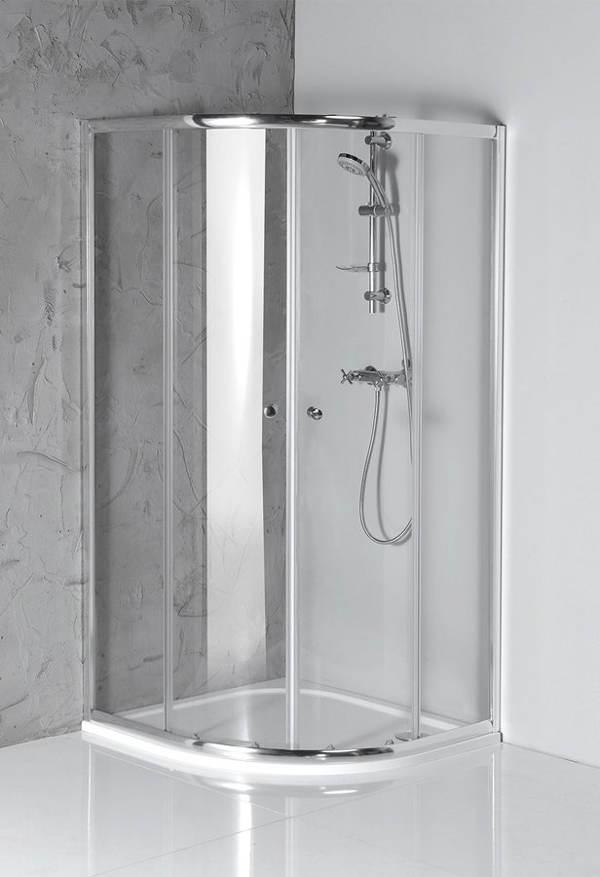 Čtvrtkruhový sprchový kout pro seniory AQUALINE - ARLETA