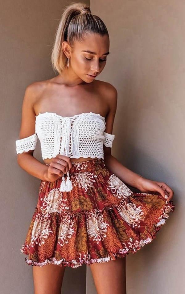 Letní dámská tylová mini sukně DIXIE