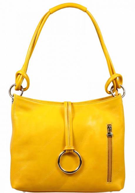 Žlutá kožená kabelka Veroncia Gialla Chiaro