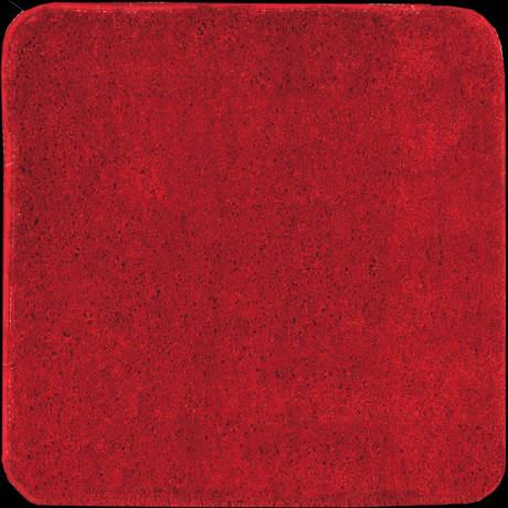 Levná červená čtvercová WC předložka