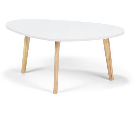 Bílý dřevěný konferenční stůl
