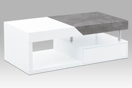 Moderní konferenční stolek v bílém matu