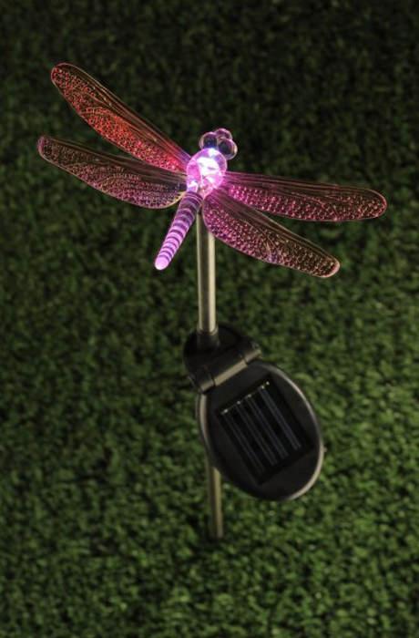 Ozdobné zahradní solární světlo Vážka