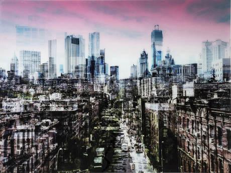 Obraz na skle NY Skyline 120x160 cm