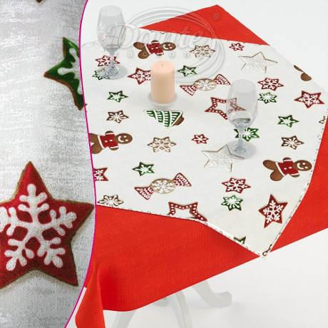 Levné vánoční ubrusy s perníčky