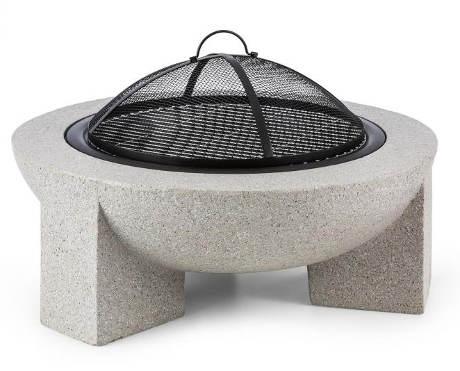 Designové zahradní ohniště z umělého kamene