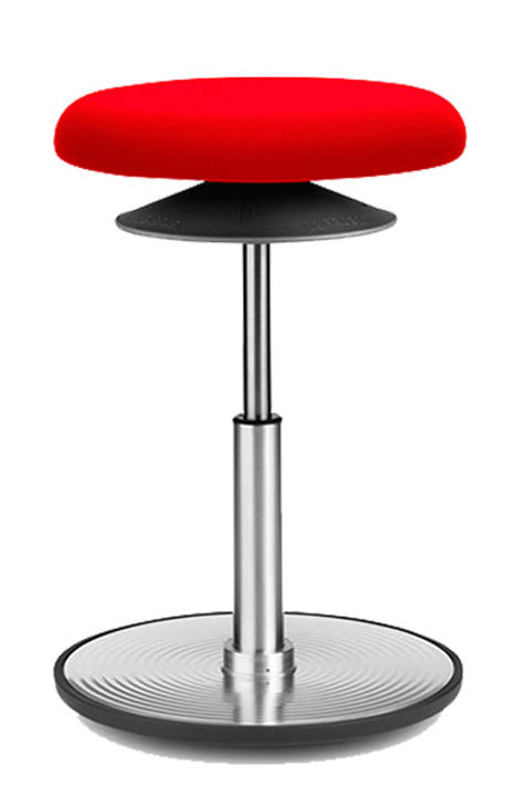 Červená balanční židle LÖFFLER