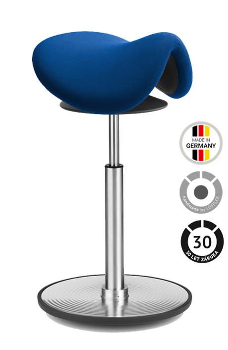 Modrá balanční židle LÖFFLER Sedlo