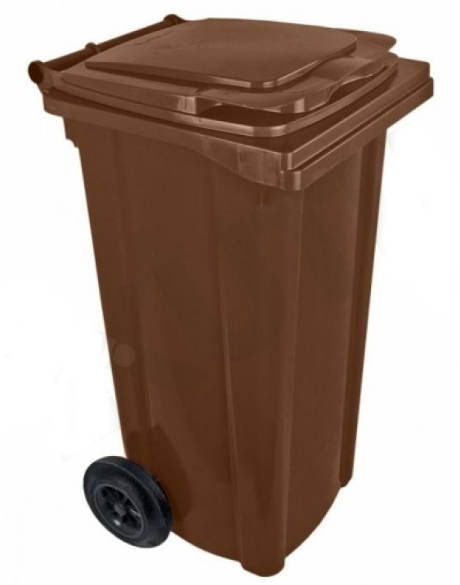 Levná plastová popelnice 120 l s kolečky