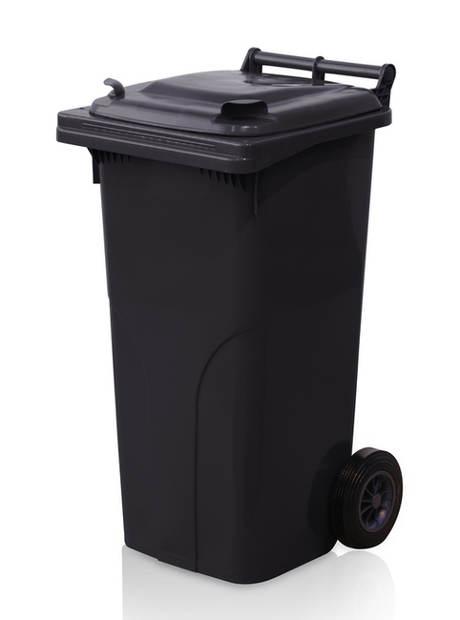 Velká černá plastová popelnice MGB 240 l