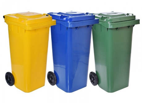 Sada plastových popelnic - 3 x 20l