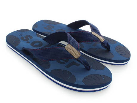 Pánské tmavě modré pantofle s.Oliver
