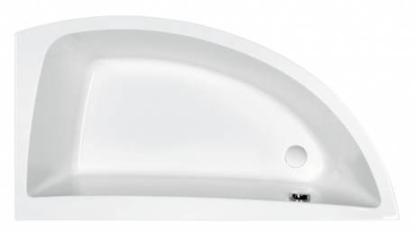 Asymetrická vana Cersanit NANO 140x75 cm
