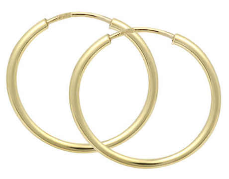 Náušnice zlaté kruhy Brilio
