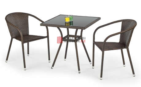 Čtvercový stůl na terasu MOBBIL