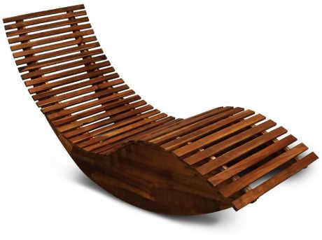 Dřevěné lehátko s houpačkou