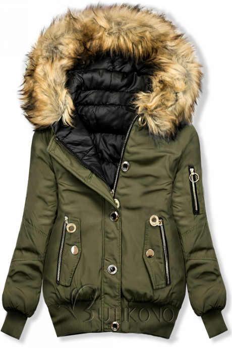 Oboustranná dámská zimní bomber bunda