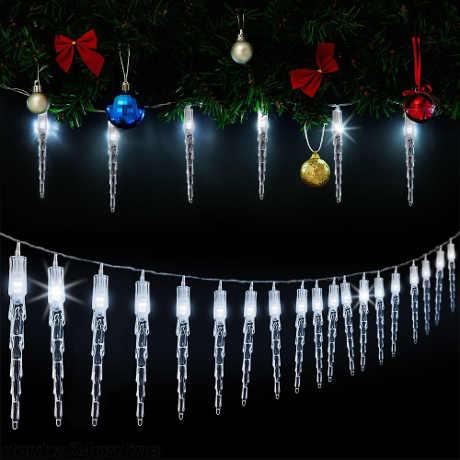 Vánoční LED řetěz rampouchy 14 m