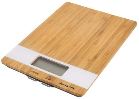 Digitální kuchyňská váha z bambusového dřeva
