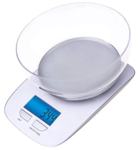 Bílá digitální kuchyňská váha GP-KS021